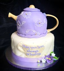 Carved teapot cake