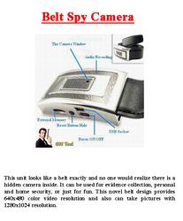 Belt Spy Camera
