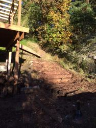 Old RR tie stairs removed