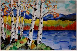 Birches by the Water #1.