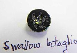 Swallow Intaglio button