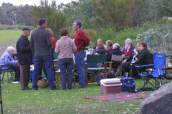 One of the groups at the Parish Picnic '07