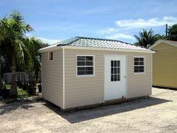 8x16 colonial door / hip roof / Permatile