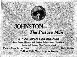 Johnston, photographer of Columbia, SC