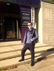In front of the Sibelius Museum in Turku