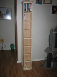 6' Divided DVD Tower