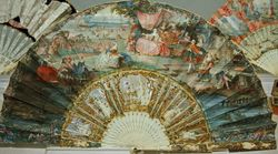French, Fan with a Garden Party, C1750, Ringling web