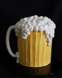 Beer Mug Cake with Buttercream Frosting