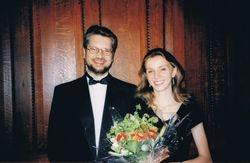 With Eliska Hatinova, Suffolk, UK, 1998