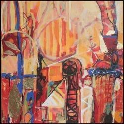 Vision of a mine: Gecko Gully. Acrylic on canvas 2016