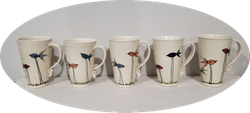 Long-Legged Bird Mugs
