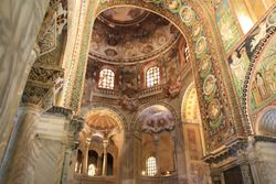 View inside of Basilica San Vitale in Ravenna