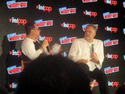 Close-Up of Joe Quesada Interviewing Vincent D'Onofrio During the Marvel: Cup O'Joe Panel