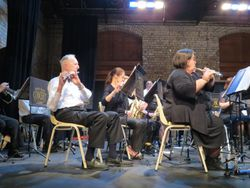 The flute section in action