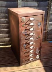 Steampunk style filing cabinet