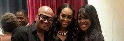 Charles, Demetria McKinney & Jam Poet attend the premiere of 'In the Meantime' at the Woodruff Arts Center