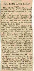 Garner, Bertha Annie McCall 1950