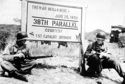 Stopped back at the 38th Parallel: