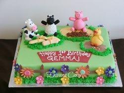 Farm animals Cake2