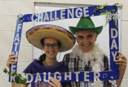 Our Father/Daughter Night Begins with the Photo Booth!