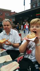 Lynda and I with Beaver Tails - yum