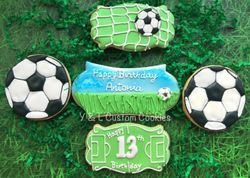Birthday Cookies Soccer Thee