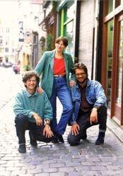 With Silvie & Eugen, Brusselles, Belgium, 1993