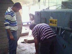 Mill motor testing in progress