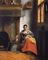 De Hooch, Mother Nursing, c. 1660, San Francisco, De Young Museum