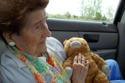 Aunt  Elsie With Toy Cat