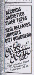 The Record Room Advert 1985