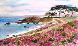 Lover's Point in Pink, Pacific Grove