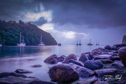 Stormy Marigot Sunset