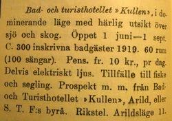 Turisthotellet Kullen 1920