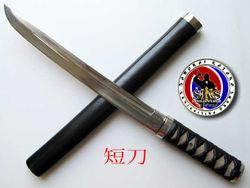 Custom Made Tanto 12 Inches with Kamon
