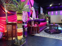 Fruit palm tree hire, stage display