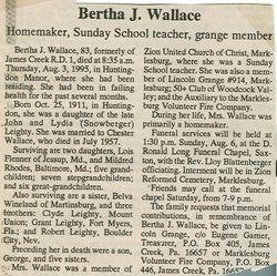 Wallace, Bertha J. Leighty 1995