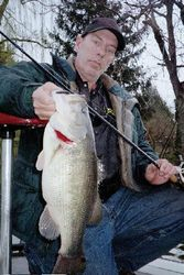Big largemouth from Red mill.
