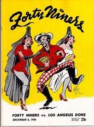 1946 San Francisco 49ers vs. L.A. Dons