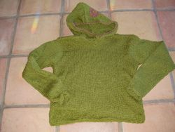 9.  hood sweater - no front opening
