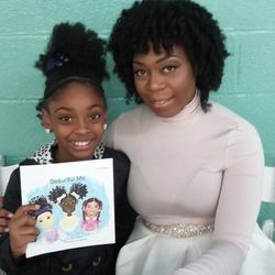"""Guest Author, Anece Robinson with young guest """"Ari"""""""