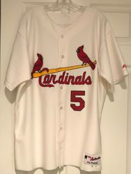 Albert Pujols 2003 St Louis Cardinals Game Used Worn Majestic Home White Jersey