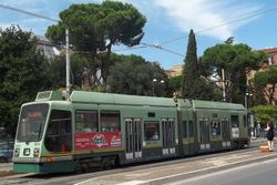 Socimi Low Floor Car #9013 at the Ministero Marina stop.