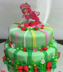Strawberry short cake cake