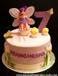 Flowers and Butterflies themed cake