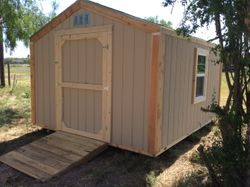10x12x8 shed with window and ramp