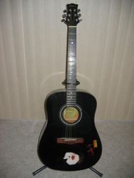Silvertone Paul Stanley Dark Star Acoustic.