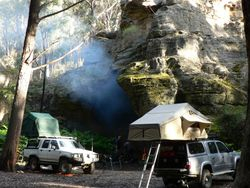 Camp at Blackfellows Hand Cave
