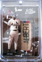 Albert Pujols 2004 Donruss Game Used Bat Card