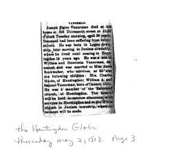 Vanorman, Joseph Bigler 1912